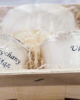 Zestaw filiżanek dla małżeństw z napisem
