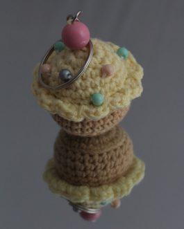 Breloczek babeczka (cytrynowa)